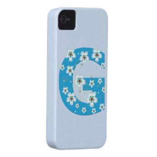 Caja floral azul del iphone 4 del hibisco de G del iPhone 4 Cobertura