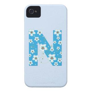 Caja floral azul del iphone 4 del hibisco del mono iPhone 4 Case-Mate carcasa