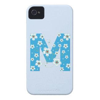 Caja floral azul del iphone 4 del hibisco del mono iPhone 4 Case-Mate carcasas