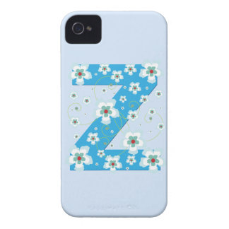 Caja floral azul del iphone 4 del hibisco del mono Case-Mate iPhone 4 fundas