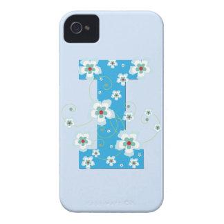 Caja floral azul del iphone 4 del hibisco del mono iPhone 4 Case-Mate protector