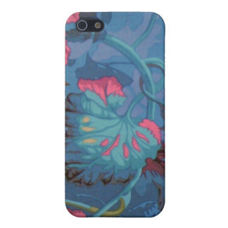 Caja floral azul del iPhone 4 iPhone 5 Funda