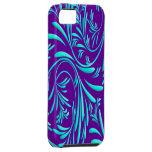 Caja floral azul púrpura de la casamata de Iphone  iPhone 5 Cobertura