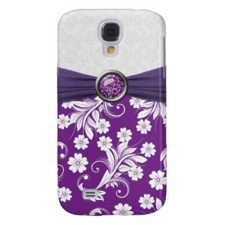 Caja floral blanca púrpura de la mota de los remol