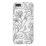 Caja floral blanco y negro del iPhone 4 iPhone 5 Protector