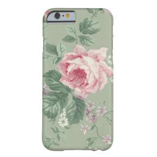 Caja floral color de rosa rosada del iPhone 6 del Funda Para iPhone 6 Barely There