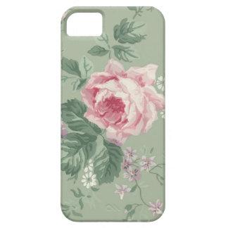 Caja floral color de rosa rosada iPhone5 del iPhone 5 Funda