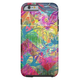 Caja floral colorida abstracta del iPhone 6 de los Funda De iPhone 6 Tough