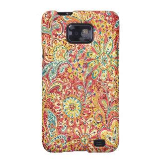 Caja floral colorida de la galaxia de Samsung Galaxy SII Funda