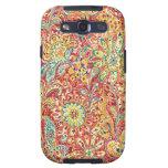Caja floral colorida de la galaxia de Samsung Samsung Galaxy S3 Fundas