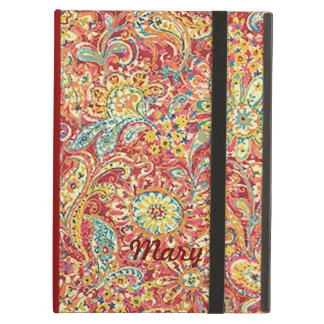 Caja floral colorida personalizada del iPad