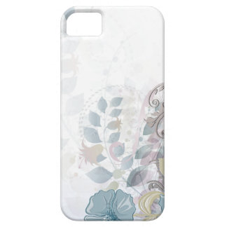 caja floral de la acuarela rosada azul abstracta iPhone 5 fundas