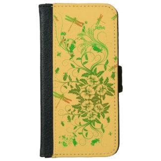 Caja floral de la cartera de la libélula iPhone6 Carcasa De iPhone 6