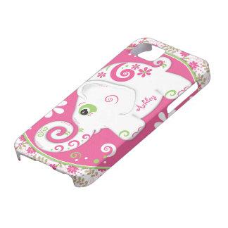 Caja floral de la casamata del iPhone 5 del elefan iPhone 5 Case-Mate Funda