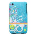 Caja floral de la curva de Blackberry del diseño d Case-Mate iPhone 3 Protectores