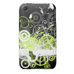 Caja floral de la curva de Blackberry del diseño d iPhone 3 Case-Mate Cárcasas
