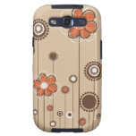 Caja floral de la galaxia 3 de Samsung Galaxy S3 Funda