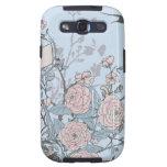 Caja floral de la galaxia de Samsung del vintage Galaxy SIII Coberturas