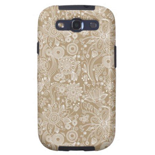 Caja floral de la galaxia de Samsung Samsung Galaxy S3 Cárcasas