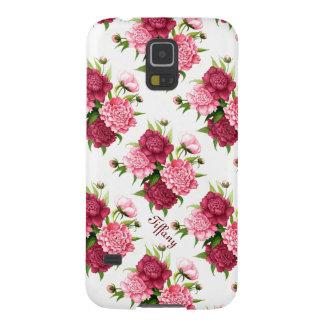 Caja floral de la galaxia S5 de Samsung del Peony  Carcasas De Galaxy S5