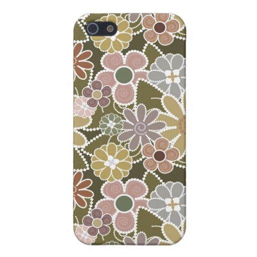 Caja floral de la mota de la diversión iPhone 5 carcasa