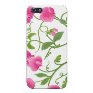 Caja floral de la mota de la vid del guisante de o iPhone 5 carcasas