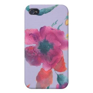 Caja floral de la mota iPhone 4/4S carcasas
