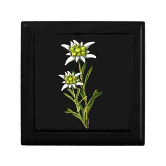 Caja floral de la teja de Edelweiss Joyero Cuadrado Pequeño