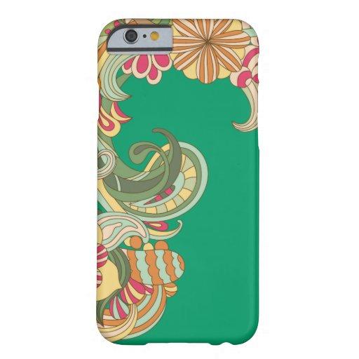 Caja floral de la turquesa hermosa funda de iPhone 6 barely there