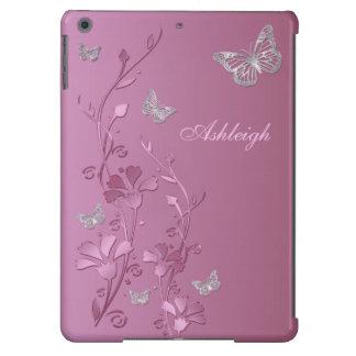 Caja floral del aire del iPad de la mariposa de pl