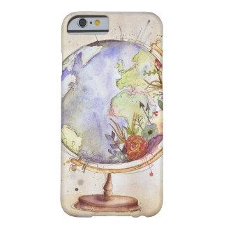 Caja floral del globo de la acuarela funda para iPhone 6 barely there