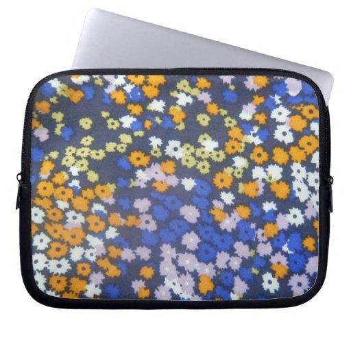 Caja floral del ordenador portátil manga portátil