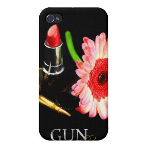 Caja floral del teléfono de la potencia de fuego - iPhone 4 carcasas
