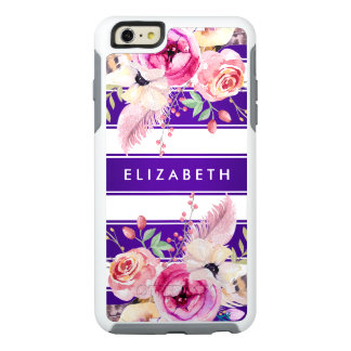 Caja floral elegante púrpura del iPhone 6 de Funda Otterbox Para iPhone 6/6s Plus