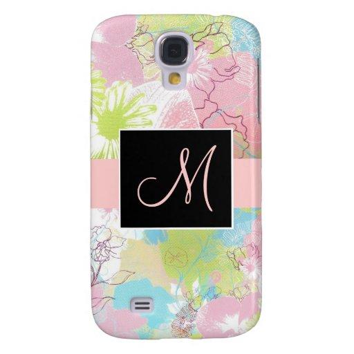 Caja floral en colores pastel del teléfono del mon