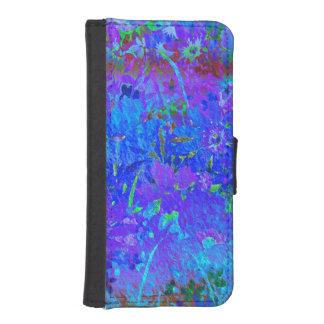 Caja floral en colores pastel suave del teléfono fundas tipo billetera para iPhone 5