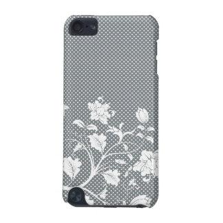 Caja floral gris del tacto de IPod