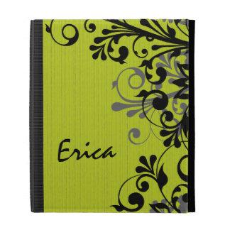 Caja floral gris negra verde personalizada del iPa