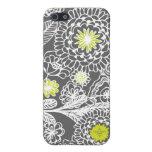Caja floral gris y blanca moderna del iPhone del e iPhone 5 Coberturas