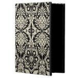 Caja floral negra y blanca del aire del iPad del m
