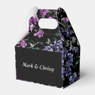 Caja floral oscura del favor del Wildflower Caja Para Regalos