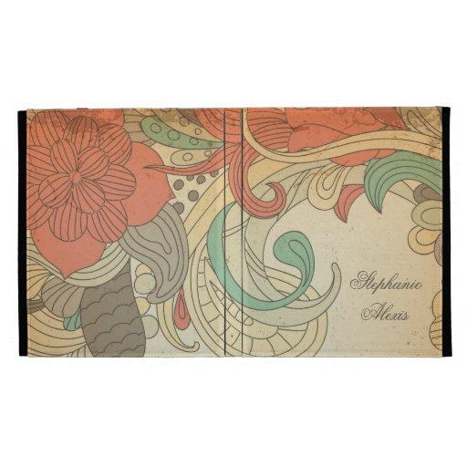 Caja floral personalizada de la cubierta del iPad