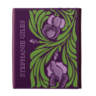 Caja floral personalizada del folio del iPad del a