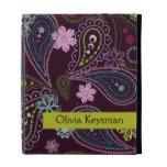 Caja floral personalizada del iPad de Paisley de l