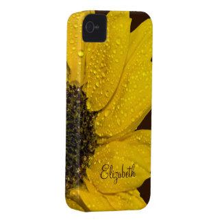 Caja floral personalizada del iPhone 4 del girasol Case-Mate iPhone 4 Funda