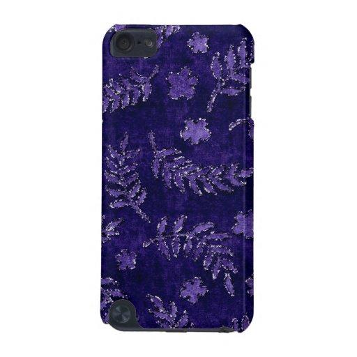 Caja floral púrpura de la mirada del terciopelo de