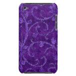 Caja floral púrpura de la mirada del terciopelo de Case-Mate iPod touch fundas