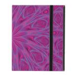 Caja floral púrpura del iPad