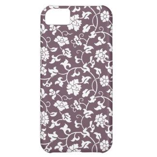 Caja floral púrpura del iPhone 5 del damasco