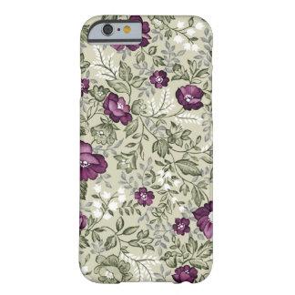 Caja floral púrpura del iPhone 6 Funda De iPhone 6 Barely There